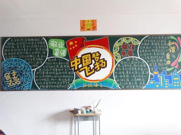 以核心价值凝聚青春力量 用传统文化点燃青春梦想 主题黑板报评比活