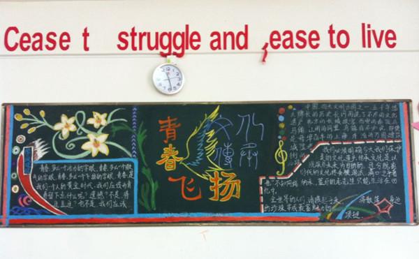 科文学院外语系开展团员主题教育实践之 激扬青春,传承文化 黑板报评比活动